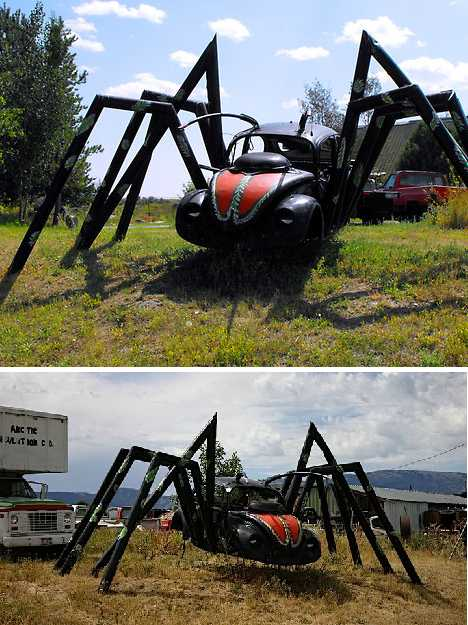 Spider Bug! 15 Spooky VW Beetle Car Art Sculptures | Urbanist