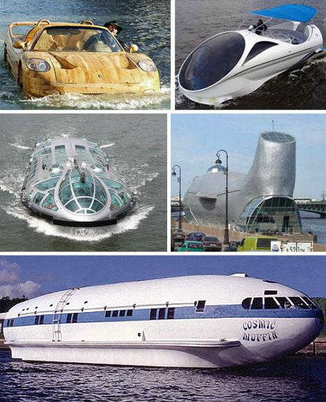 صور لوسائل مواصلات غريبة وعجيبة Big-Boats