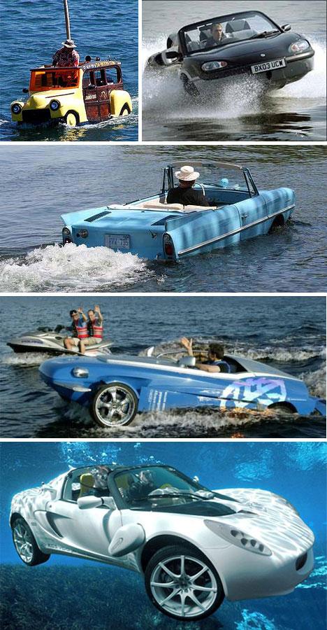 صور لوسائل مواصلات غريبة وعجيبة Car-Boats
