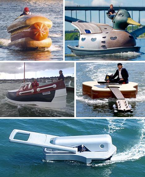 صور لوسائل مواصلات غريبة وعجيبة Funny-Boats1