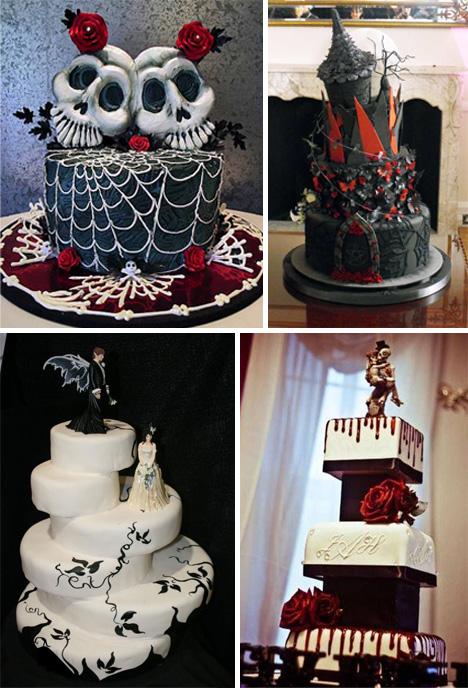 Gothic wedding cake images