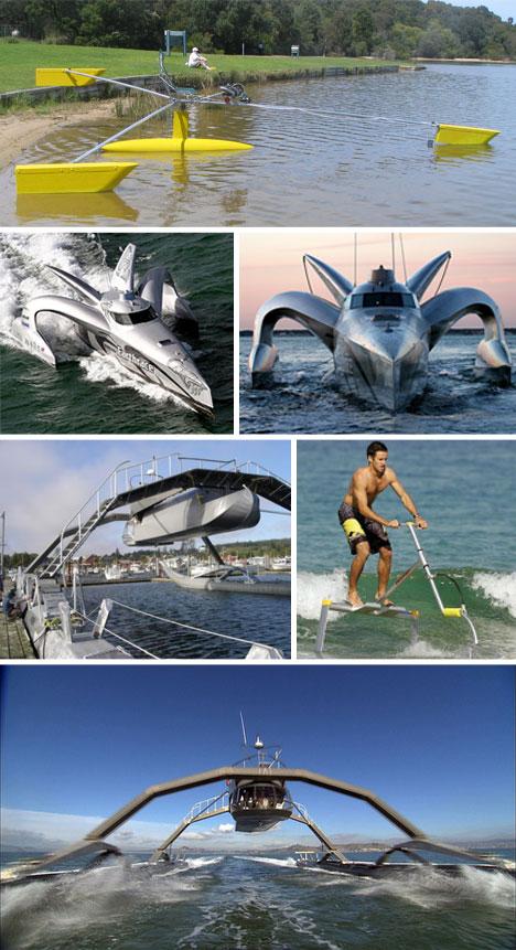 صور لوسائل مواصلات غريبة وعجيبة Spider-Boats
