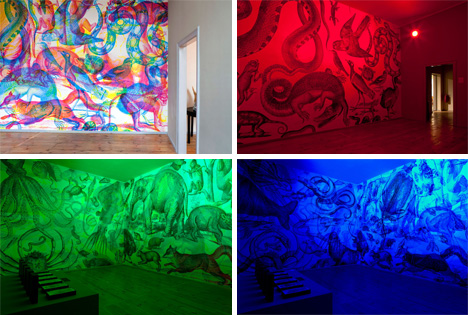 Rgb Art Incredible Mural Shifts As Lighting Colors Change