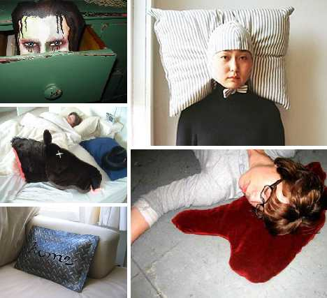 sleeping beauties theyu0027re not and sweet dreams may be too much to expect from these 15 nightmarish pillow designs whether youu0027re a certified head case or