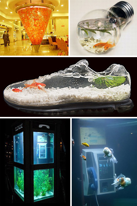 Holy water 24 amazing aquariums and clever fish tanks for Awesome fish tanks