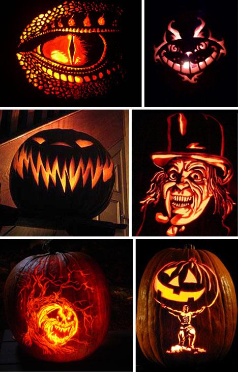 Predator+face+pumpkin