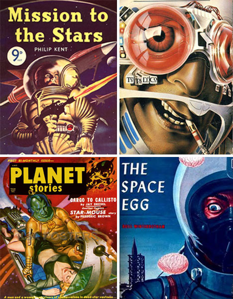 Classic Book Covers Art : Blast off art design of retro sci fi book covers