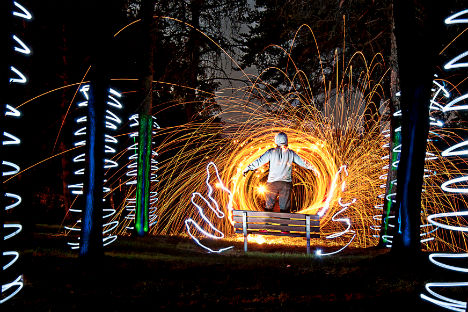 Painting with Light: 15 Long Exposure Light Art Photos