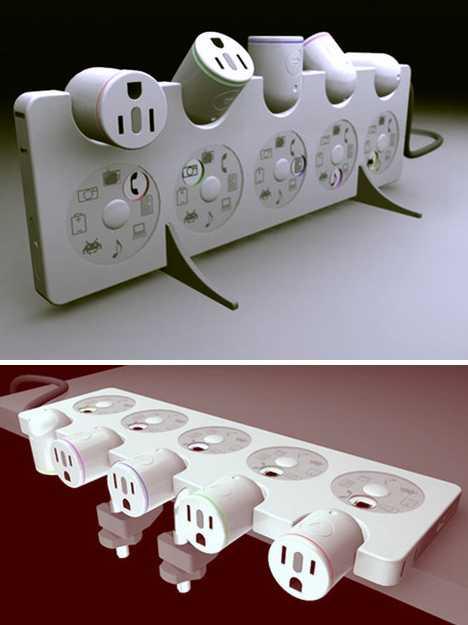 Electric outlet strip decorative