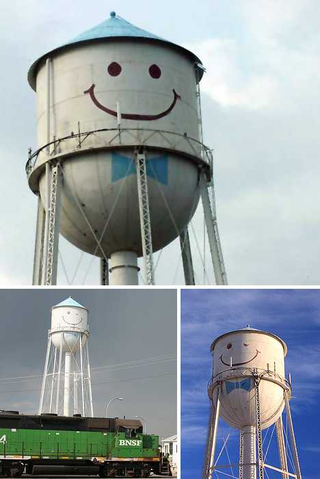describing the water tower in my local town Most water towers can hold 50 times that amount -- that's one million gallons the exact size of a water tower tank can vary greatly, but most are built to hold approximately one day's water supply water towers can be unique symbols of local pride sometimes they are painted with a town's name or a local school's logo.