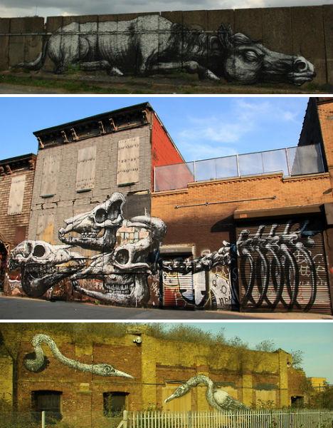 13 Panoramic Street Artists Stencil Far & Spray Wide