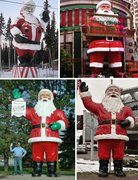 31 hugely out of control decorations urbanist - Christmas Decorations Large Santa Claus
