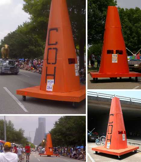 Cone In Real Life: Road Work: 10 Pointed Examples Of Traffic Cone Art