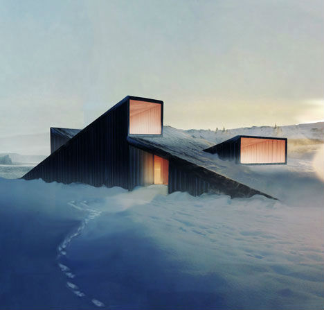 Norway Mountain Cabin Roof Doubles As A Ski Slope Urbanist