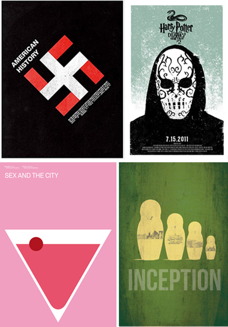 Movie Poster Minimalism: 41 Stripped-Down Examples : Urbanist