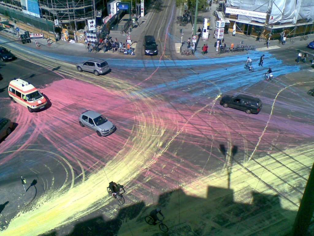 Art Attack Berlin Drivers Paint The Town Red Beyond