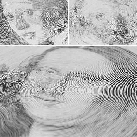 Spiral Pen Portraits Use Pressure To Make Amazing Art Urbanist