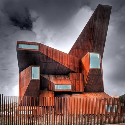 Modern religion 13 contemporary churches chapels urbanist for Modern church youth building design