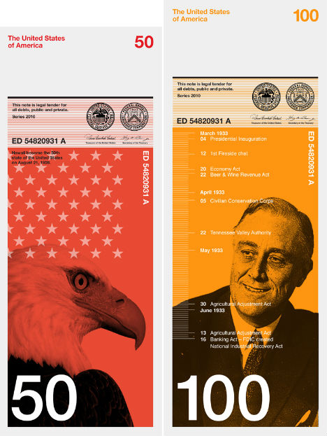 Artistic Dollar Redesign is Beautiful, Simple & Practical