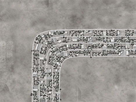 Digital Suburbs: Logic Defying Fictional Aerial Views