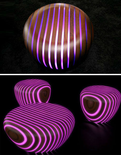 Bright Woods with Embedded Glow-in-the-Dark Stripes