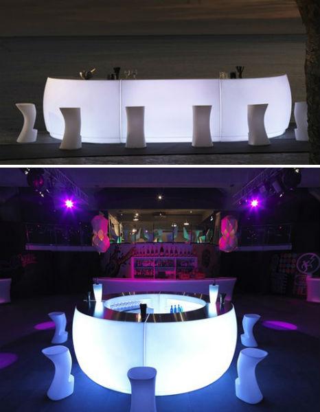 Light Up Outdoor Bar