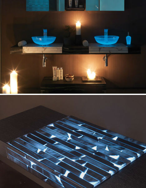 Glowing Countertop by Glow In The Home Furniture Lights Up Nights Urbanist  ...