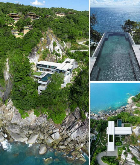 Invisible edges 15 death defying infinity pool designs for Cliff hanging homes
