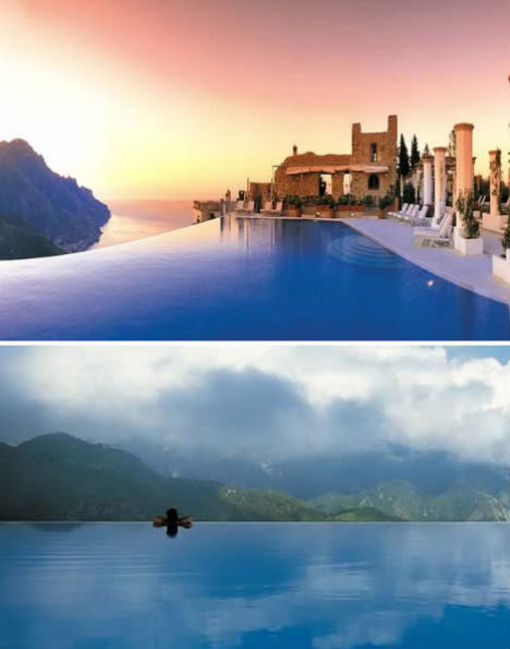 Invisible edges 15 death defying infinity pool designs for Italian pool design 7