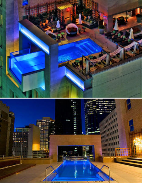 Invisible edges 15 death defying infinity pool designs for Hotels in dallas with indoor pools