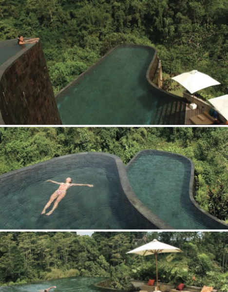 Invisible edges 15 death defying infinity pool designs urbanist for Ubud hanging gardens swimming pool price