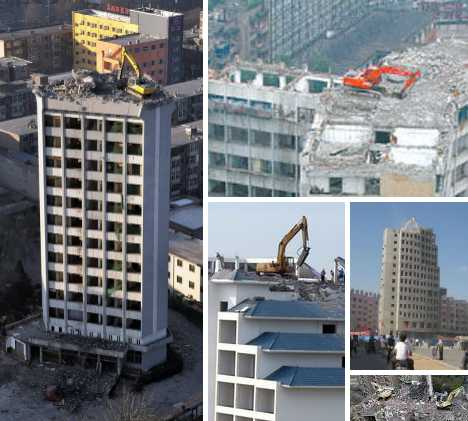 High Anxiety Rooftop Excavators Tear Down From Up Top