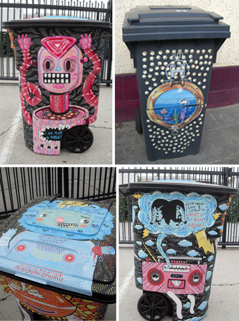 Trash Can Art 48 Garbage Cans That Belong In A Gallery Urbanist New Exterior Trash Receptacles Creative Painting