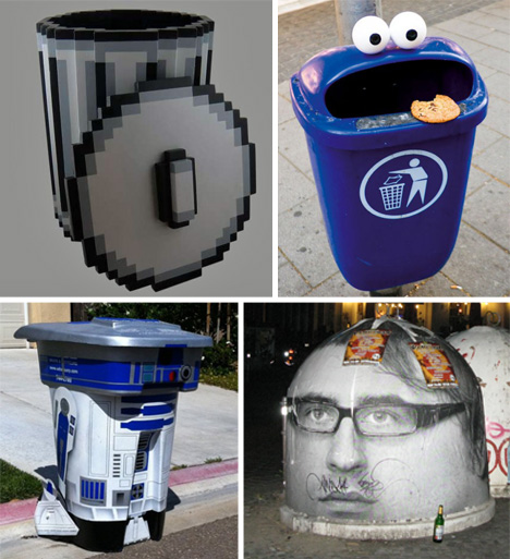 Dirty Rats All Over Trashcans Vector Image
