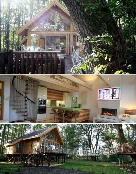 18 award winning tree houses hotels schools urbanist cleveley mere tree house hotel sisterspd
