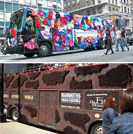 Koleksi 23 3D iklan yang dipaparkan di dinding bus