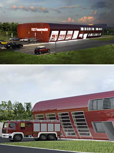 Flame Fame: 12 Red Hot Designer Fire Stations | Urbanist on modern library design, modern heart design, modern queen design, modern fuel design, modern school design, modern rainbow design,