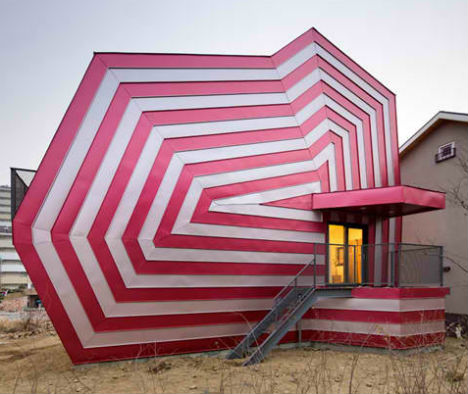 Lollipop House: Striped and Candy Bright in South Korea