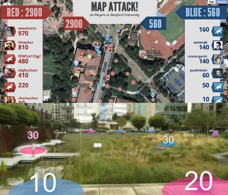 MapAttack App Turns Any City into a Virtual Gameboard