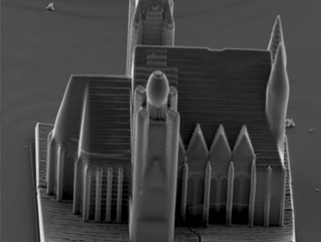 Castle in a Grain of Sand: Tiny Nanoscale 3D Printing