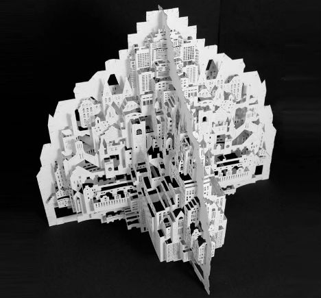 Paper Architecture: Intricate 3D Sculptures by Ingrid Siliakus
