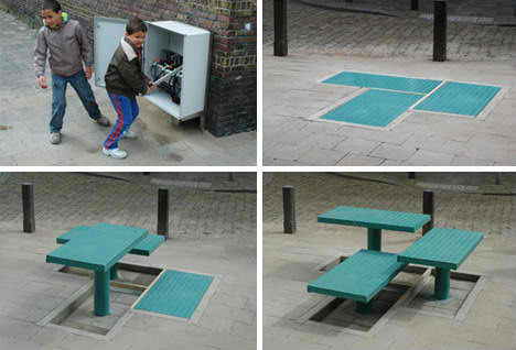 Hydraulic Convertible Benches