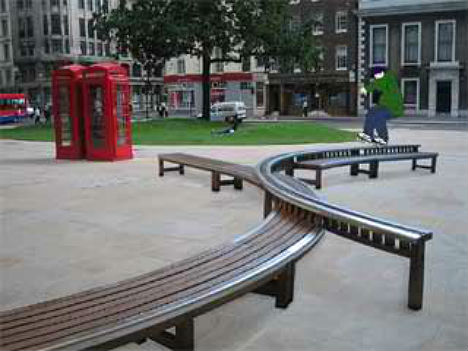 Skateable Park Benches. City Seats  14 Examples of Unconventional Urban Furniture   Urbanist