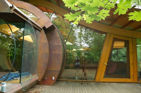 Living Wood Tree House If Frank Lloyd Wright S Falling Water Were A Tree House