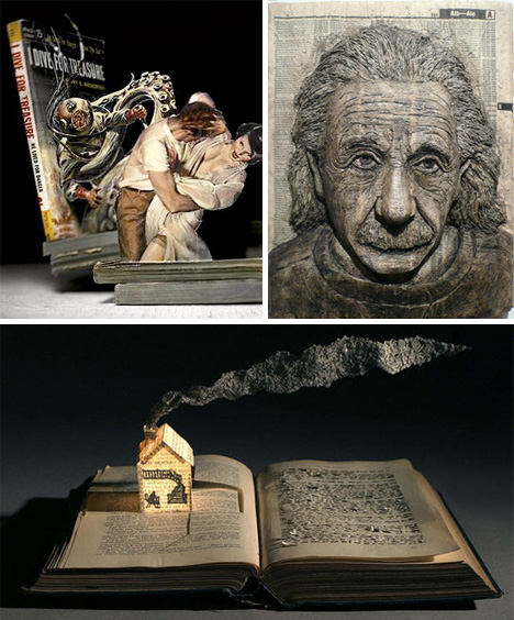 Gripping book art sculptures worth reading about