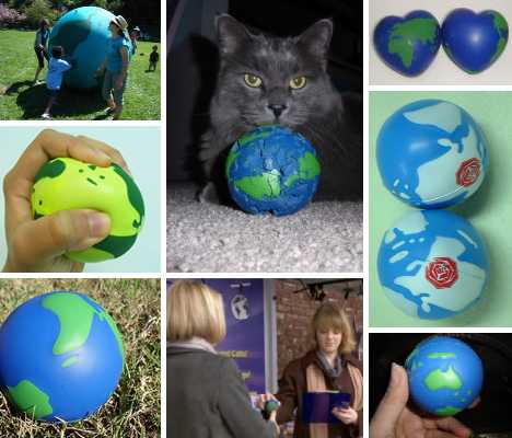 Global Kneads: 15 Earth Stress Reliever Ball Designs