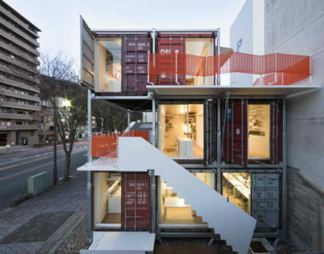 Container urbanism reclaimed pop up structures urbanist for Structure container maritime