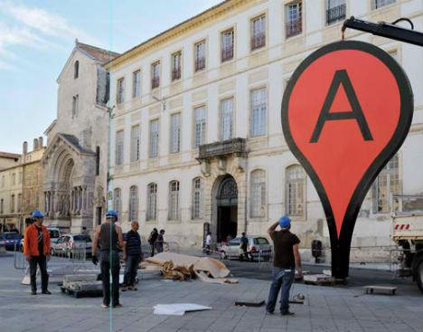 Art Imitates Digital Life Real World Google Map Pins Urbanist