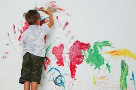 Child Peeling Paint Off Walls