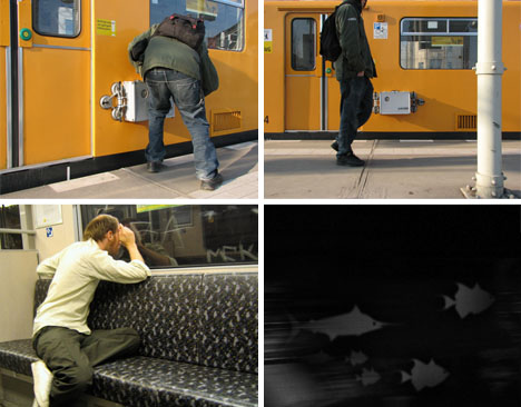 Subway Parasite: Stealth Projector Lights Up Train Tunnels